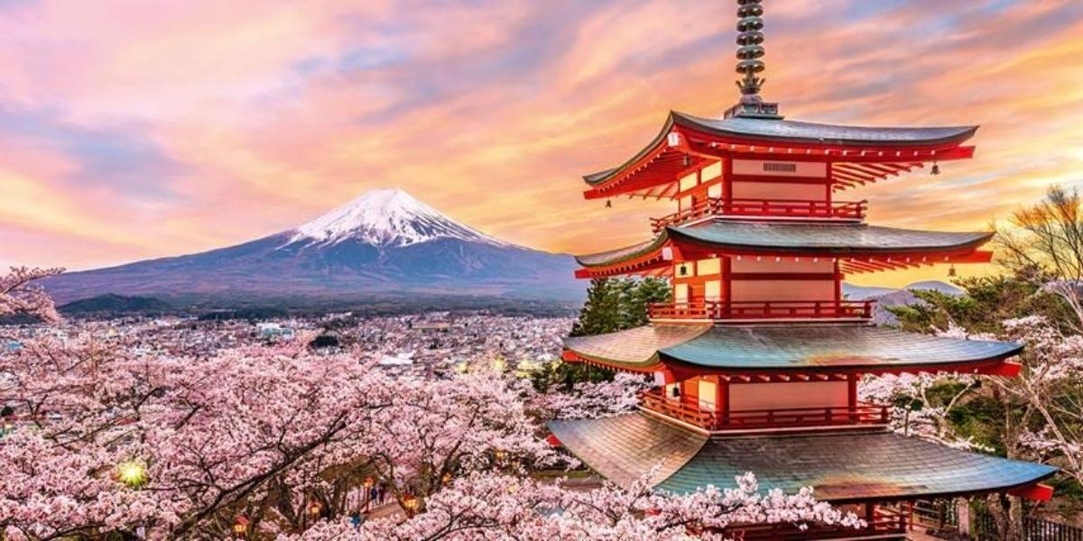 A picturesque Japanese landscape